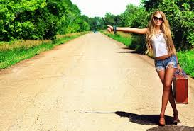 pretty woman on road